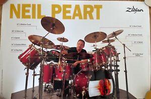 Neil Peart Zildjian Promotional poster cope rare