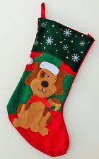 """Puppy Dog Felt  Christmas Stocking 16""""  NWOT"""