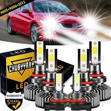 For Honda Accord 2006-2011 2012 6000K LED Headlights High/Low Fog Light Bulb Kit