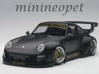 AUTOart 78154 PORSCHE RWB 993 1/18 MODEL MATTE BLACK with GOLD WHEELS