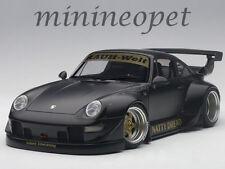 AUTOart 78154 PORSCHE RWB 993 1/18 MODEL MATTE BLACK with GOLD WHEELS