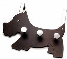 Headbourne 3 Coat Hook Scotty Dog Scottie Design Over the Door Hanger, Dark