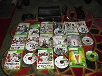 Microsoft Xbox 360 S Slim Model 1439 4GB Black Console W/ 9 games and controller