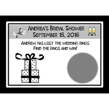 24 Bridal Shower Scratch off Cards - Black and White Gift Design