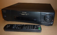 BLACK SONY VIDEO TAPE PLAYER/RECORDER VCR PLUS VHS SLV-E210