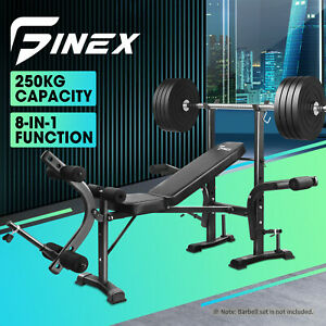 Finex 7-in-1 Weight Bench Press Multi-Station Fitness Weights Squat Rack Incline