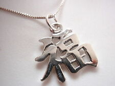Chinese Character for LUCK Pendant 925 Sterling Silver Corona Sun Jewelry Vegas