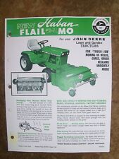JOHN DEERE 140 Lawn/ Garden Tractor HABAN FLAIL  Mo Advertisement