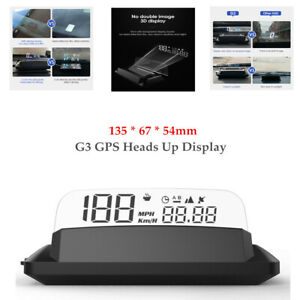G3 GPS Heads Up Display Car HUD With Reflection Screen Multi-function Display×1