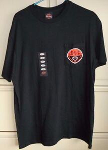 Harley Davidson Men's Black Pocket T-Shirt Size L