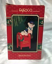 Special Bear-Livery 1996 Enesco Treasury of Christmas Ornament  Letters to Santa
