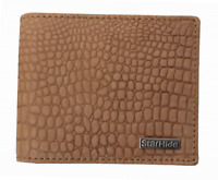 Mens Designer STARHIDE Genuine Soft Leather RFID Wallet Embossed Crocodile #1200