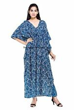 Handicraft Palace Indian Cotton Loose Kaftan Dress Floor Length Free Size Ethnic