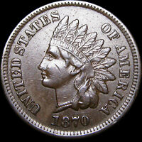 1870 Indian Cent Penny ---- NICE L@@K  ---- #D605