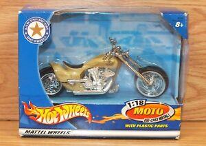 2002 Mattel Law Enforcers Hot Wheels Moto 1:18 Die Cast Metal Motorcycle *NOS*