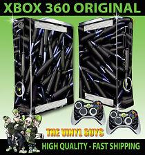 XBOX 360 Nero PROIETTILI conchiglie ammo console Adesivo Skin NUOVI E 2 SKIN Pad