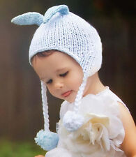 Girls/Boys Bunny Ears Knit Beanie Cap Hat for Infant Baby Toddler