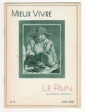 LE PAIN Francis JOURDAIN Mieux vivre n°8 Août 1939