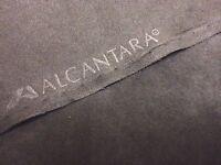 Muster zu ORIGINAL Alcantara Stoff Pannel Farbe: 9002 SCHWARZ 5cm x 10cm!