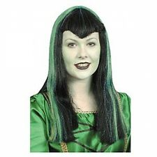 Vampiress Wig with Green Streaks, Witches,Dracula's Mistress, Halloween 1414609