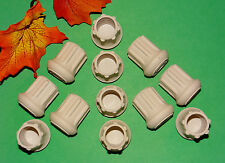 "(12) NEW 7/8"" WHITE RUBBER CANE TIPS FOR WALKERS, CRUTCHES, WALKING STICKS, ETC."