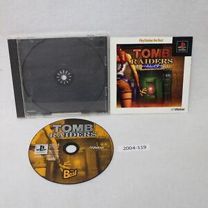 SONY PS1 Tomb Raiders Working NTSC-J Japan 2004-119