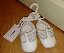 New Designer at Debenhams Baby White Leather Pre Walker Shies Age 3/6 Months