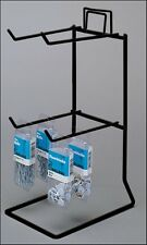 Counter Small Product Display Rack - 2 Tier 4 Peg (Black)