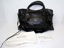 Authentic Balenciaga Classic Leather City Satchel Handbag Bag Purse Black $1835