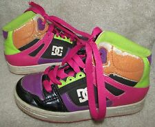 DC Shoes Youth Rebound Hi Top Skater Shoes Size 1 Style 302676A Multi Color