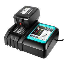 Battery & Charger Combo for Makita 18V Li-ion 6.0Ah Bl1860 Dc18Rc Bl1830 Lxt400
