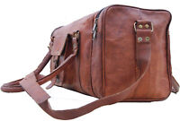 Vintage Real Leather Travel Hand Luggage Duffel Gym Bag Holdall Weekend Carry-On