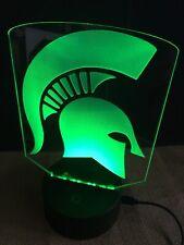 Spartan Led Light Sign Multi Color Display Man Cave Game Room (big 8x6�) U.S.A