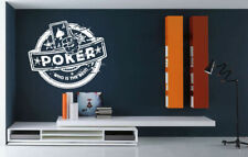 Wall Vinyl Sticker Decal Decor Room Design Casino Card Game Poker Player bo2086