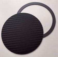 TAX DISC & PARKING PERMIT HOLDER MAGNETIC - Carbon Fiber Effect BLACK