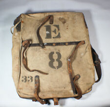 Mid To Late 1800'S Wars Or Spanish American War Marked Back Pack. Rare!