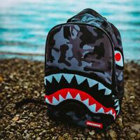 Brand New SPRAYGROUND Chenille Black Camo Shark Deluxe Bag