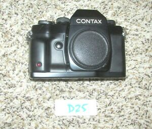 VINTAGE CONTAX RX BLACK SLR FILM CAMERA BODY (D25)