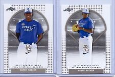 """(2) KUMAR ROCKER 2017 """"1ST EVER PRINTED"""" PERFECT GAME AAC ROOKIE CARD LOT!!!"""