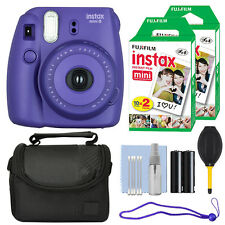 Fuji Fujifilm Instax Mini 8 Instant Film Camera Grape + 40 Film Accessory Kit