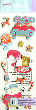 Santas Treats Kids Sleeping Christmas Eve Sugarplum Danced Jolee's 3D Sticker