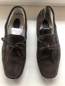 Tods Suede Mocassins Loafers Fur Inside