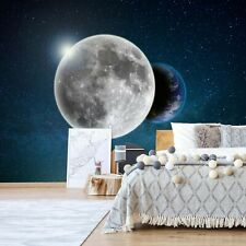 123x86in Earth and Moon view bedroom wall mural photo wallpaper blue space