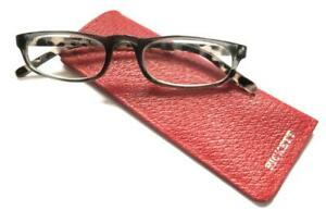 PICKETT OF LONDON RED LEATHER GLASSES CASE POUCH SHEATH