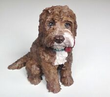 Cockapoo Memorial Statue,Personalised Dog Memorial, Dog Sculpture, Dog Urn