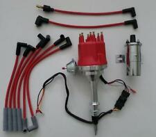 Small Cap AMC/JEEP INLINE 6 232-258 HEI Distributor + Spark Plug Wires +45K Coil