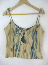 Kerry Grima Size S 8 10 Designer Leather (suede/chamois) Singlet Style Top