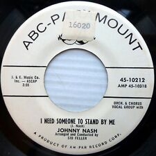 JOHNNY NASH promo 45 A THOUSAND MILES AWAY / I NEED SOMEONE TO STAND BY ME e9347