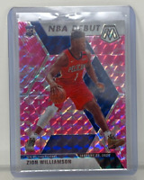 2019-20 Panini Mosaic Zion Williamson Pink Prizm NBA Debut Rookie RC #269