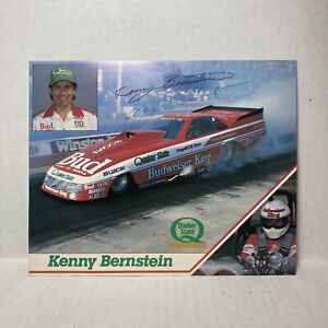 Kenny Bernstein Budweiser Buick LeSabre Funny Car Handout NHRA 1987 Autographed